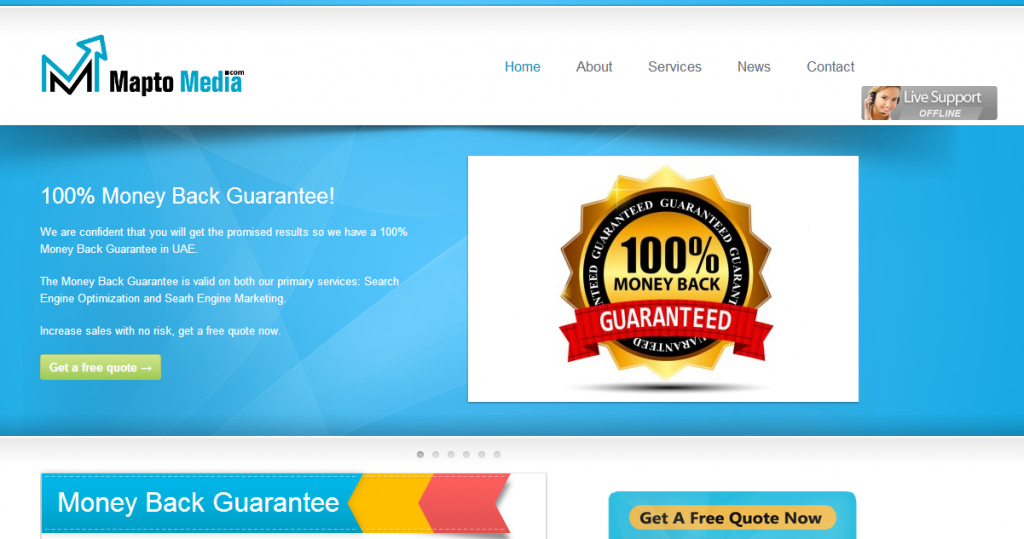 100% Guaranteed Money Back SEO. How can you possibly lose?